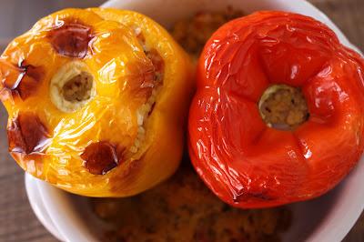 recette de cuisine poivrons farcis au boulgour