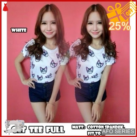 AFO565 Model Fashion Cat Full Tee Modis Murah BMGShop