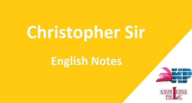 Christopher Sir English Class Notes PDF Download