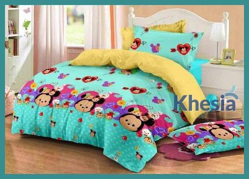 jual bed cover katun jepang murah