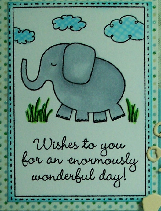 Sues Rubber Stamping Adventures Elephant Birthday Wishes