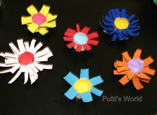 Kids Flower Spring Crafts Recycled