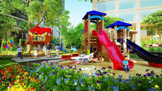 khu vui chơi trẻ em tại chung cư 378 Minh Khai