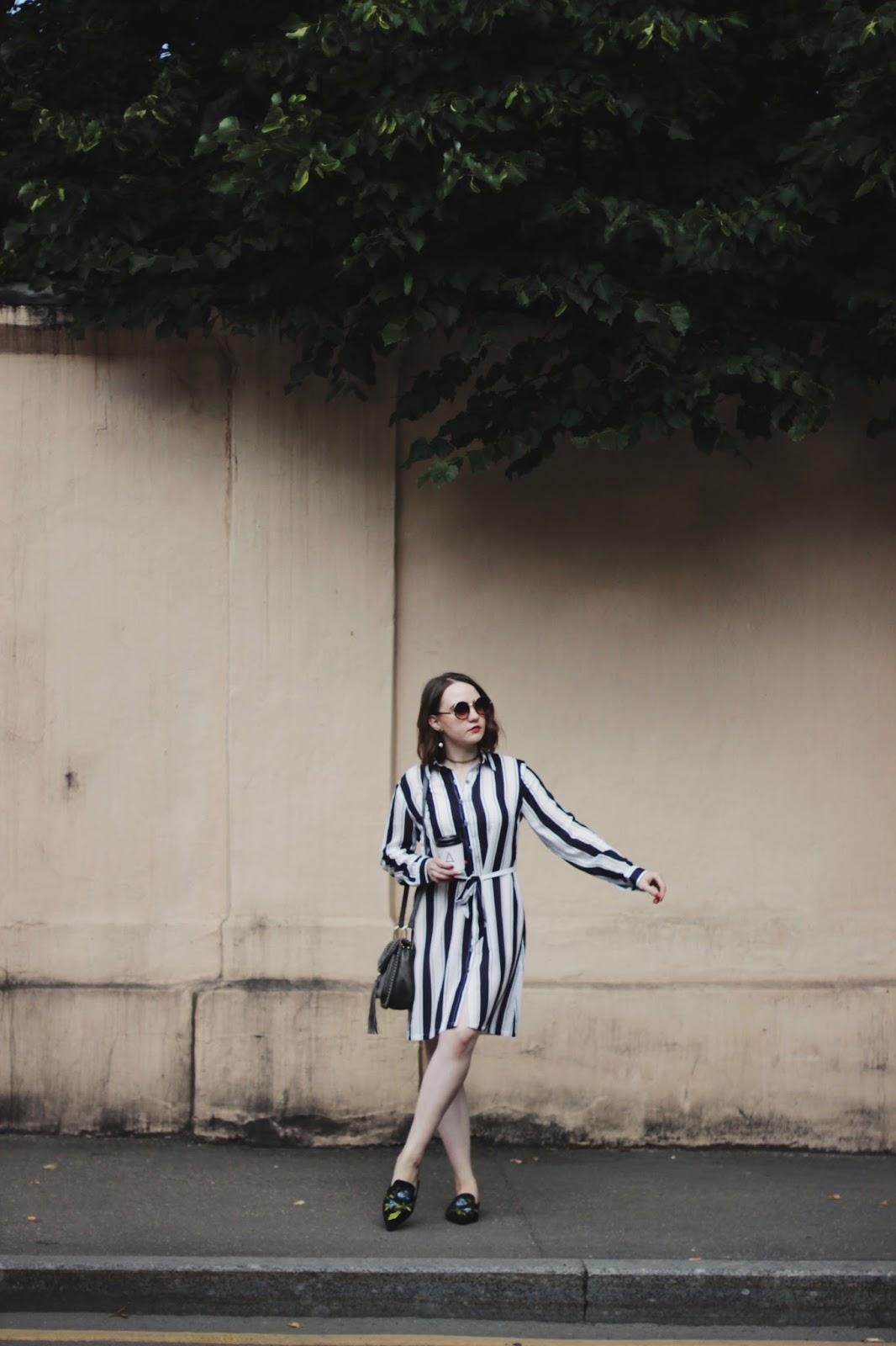 Alina Ermilova | Fashion Blogger | Striped Dress