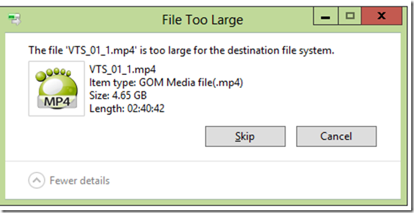 Cara Mengatasi The file is too large for the destination file system.