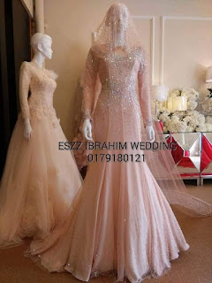 Eszz Ibrahim Wedding peach