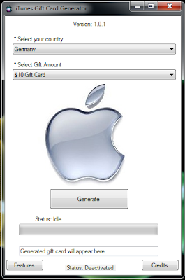this is iTunes Gift Card Generator 2013 screenshot