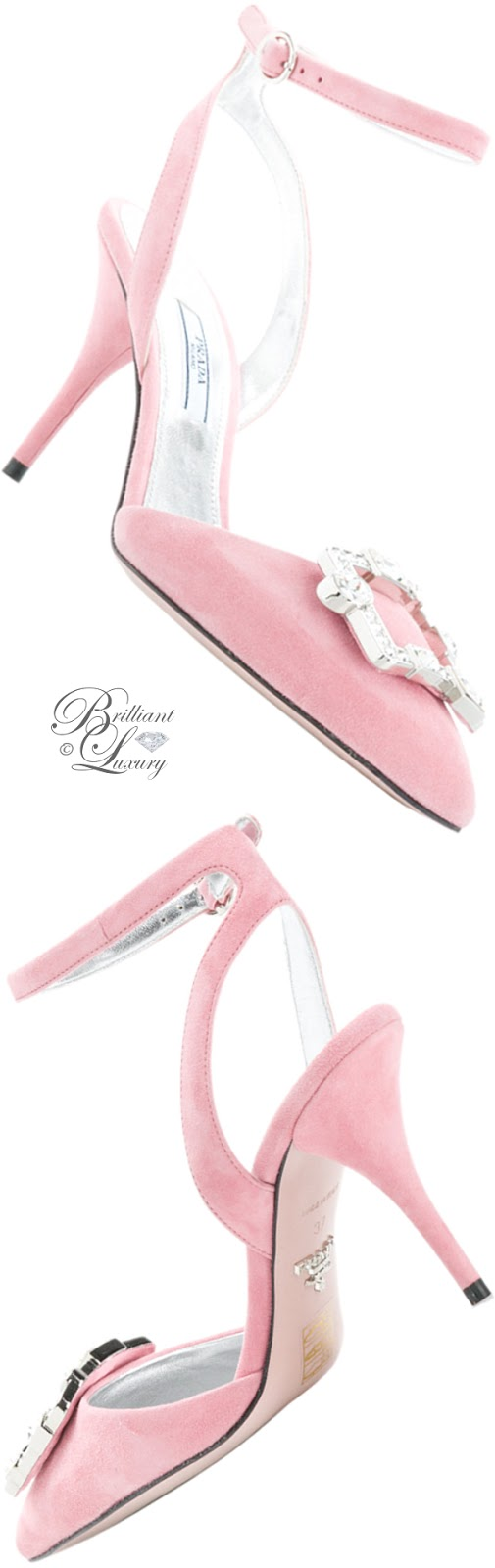 Brilliant Luxury ♦ Prada pointed rhinestone pumps
