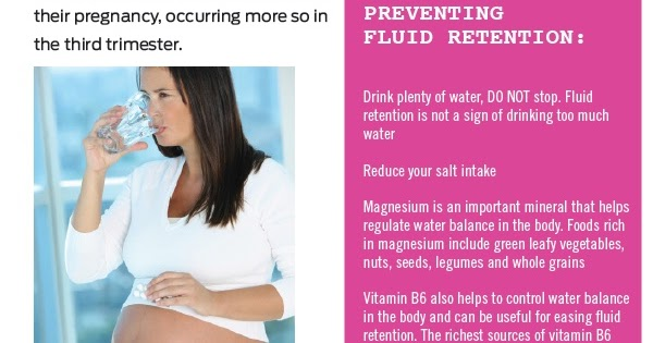 Foods To Reduce Water Retention During Pregnancy