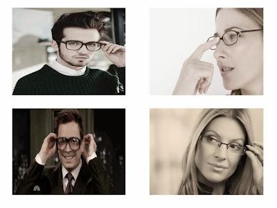people adjusting their glasses