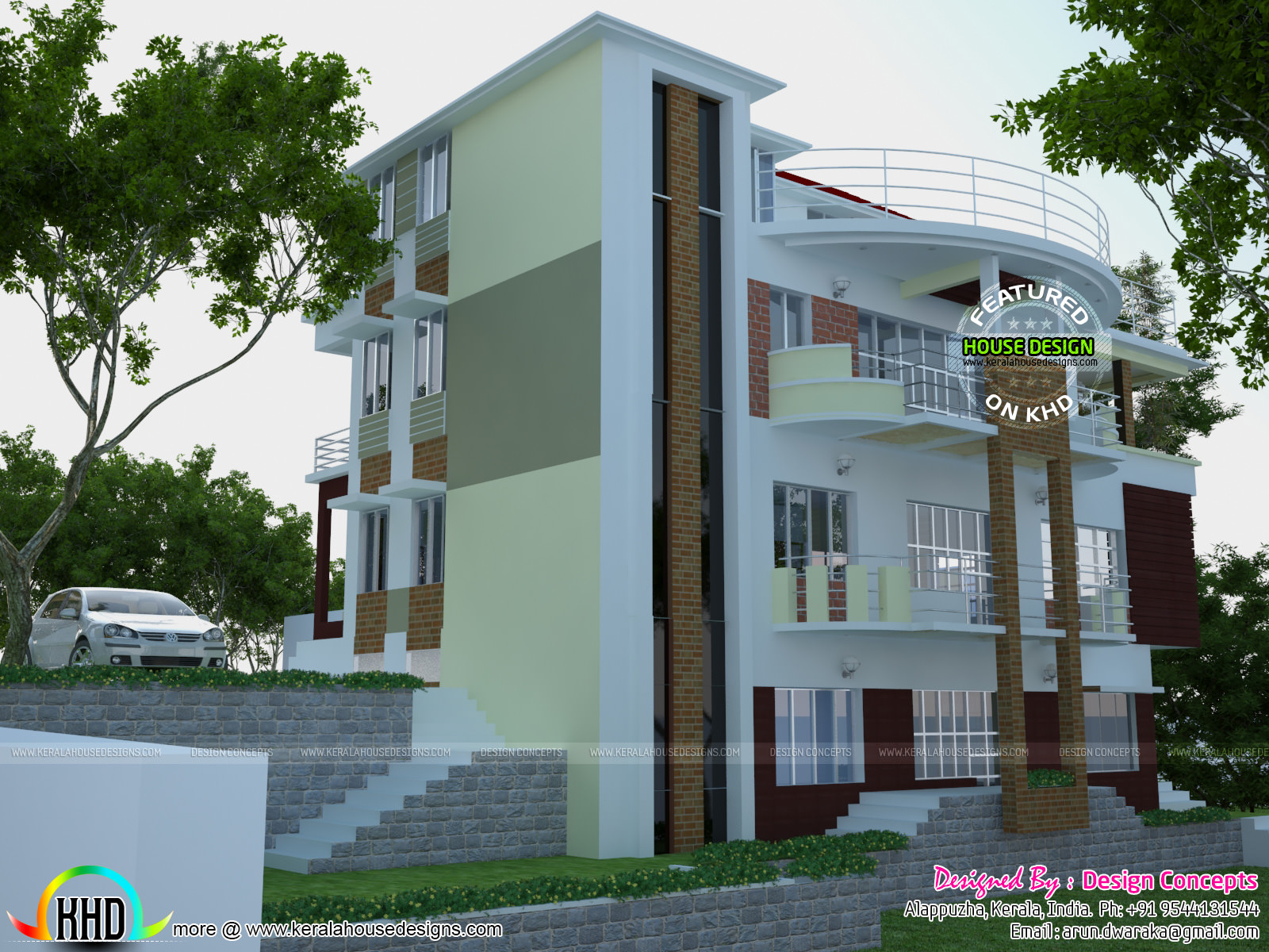 Multi family 4 plex home plan kerala home design and for Multifamily house plans