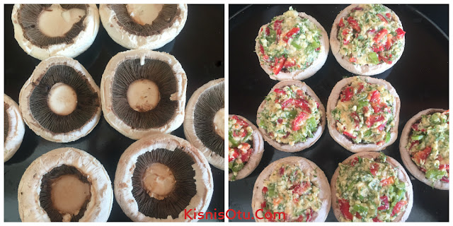 mantar, dolma, tarif, fırın, nefis, lezzetli, glütensiz, sağlıklı, beslenme, kişniş otu, yemek