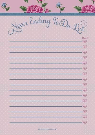 work to do lists printable