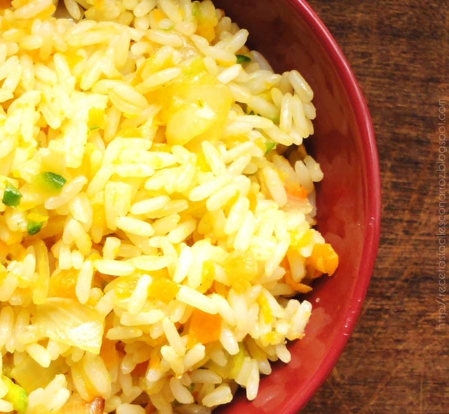arroz liviano con verduras vegetariano vegano