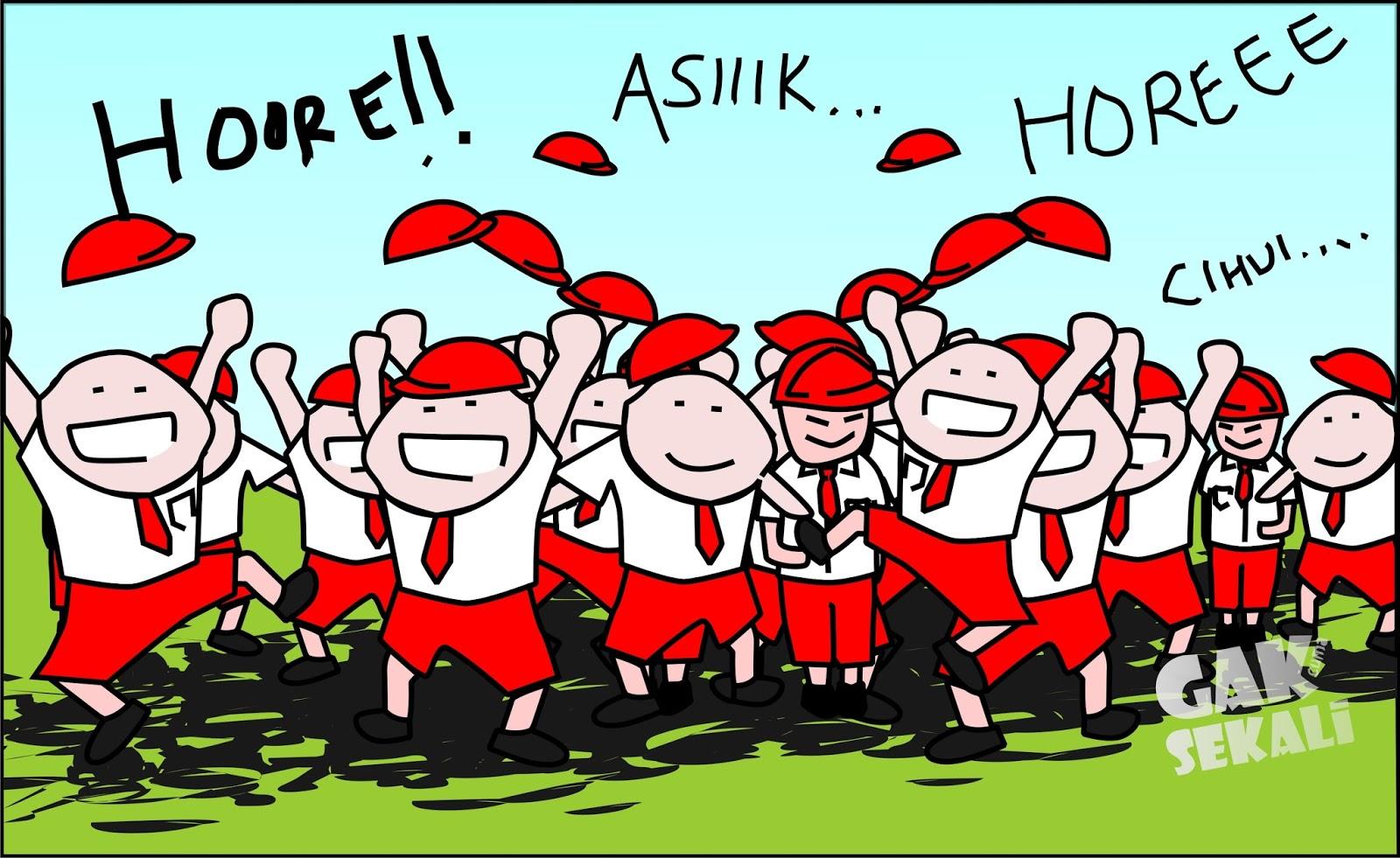 83+ Gambar Kartun Anak Sd Upacara Gratis Terbaik