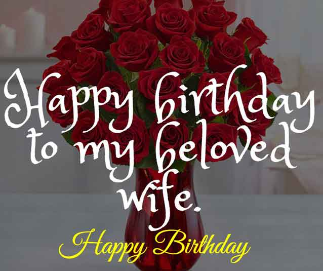 Happy birthday to my beloved wife.