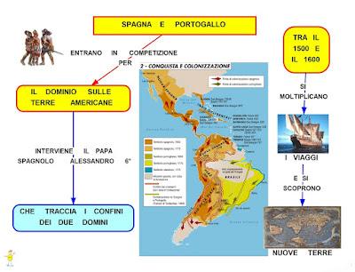 Portogallo Spagna Cartina.Mappa Concettuale Spagna E Portogallo Scuolissima Com