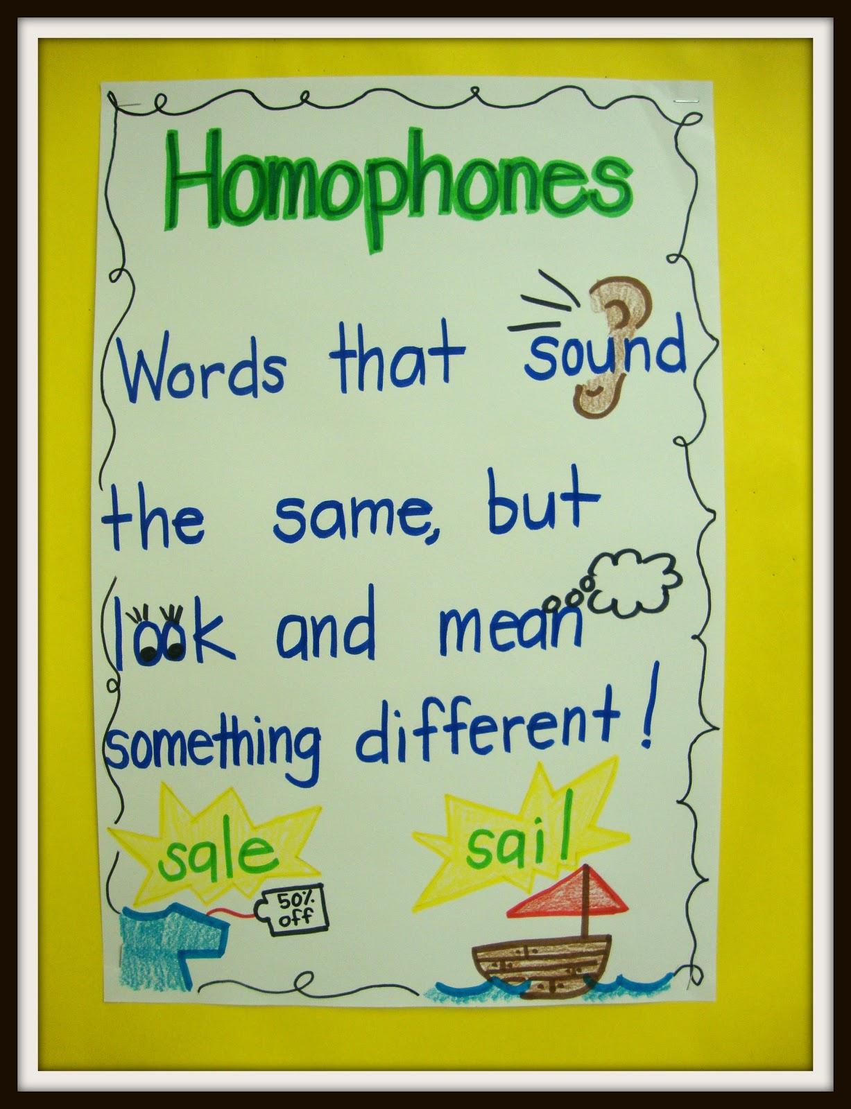 Today In First Grade Homophones Baby