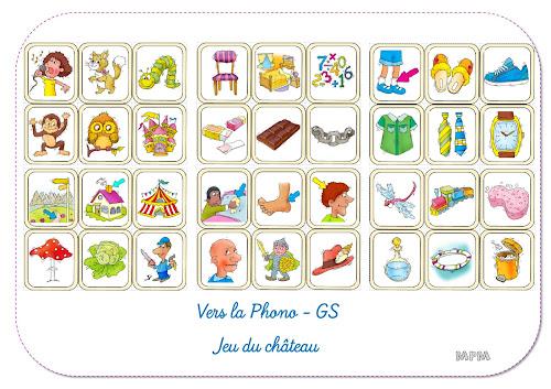 Vers la phono GS - Jeu du château