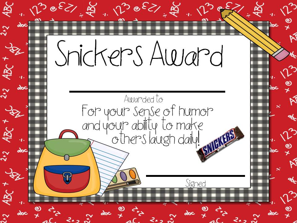 Candy Awards Tunstall S Teaching Tidbits