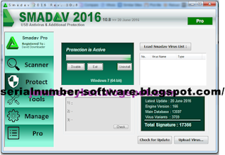 Serial Number Smadav PRO Rev.10.8 Terbaru 2016 Working