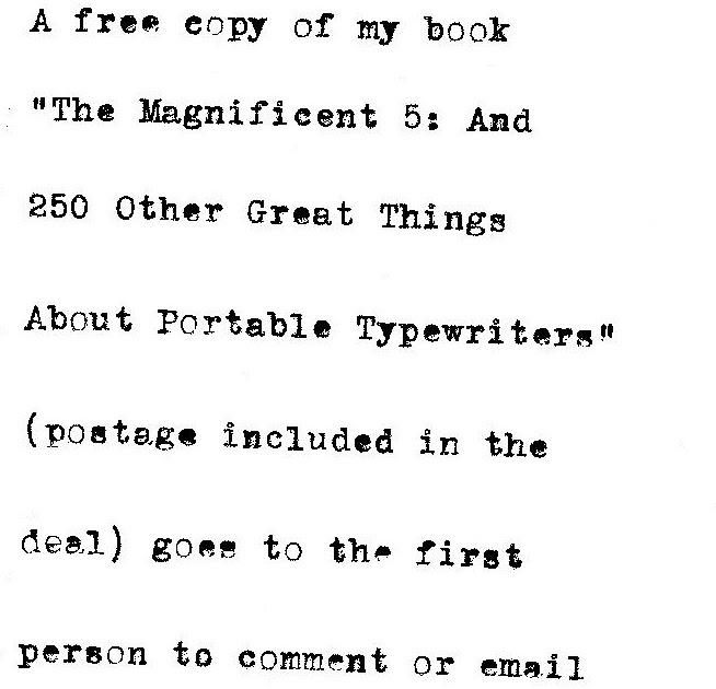 oz.Typewriter: Pick the Portable Typewriter: Win a Prize