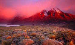 Sunrise over Cuernos, Chile