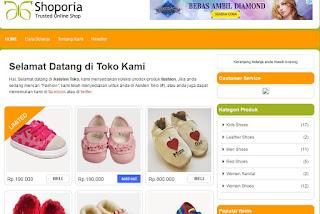 template blogspot gratis untuk toko online.