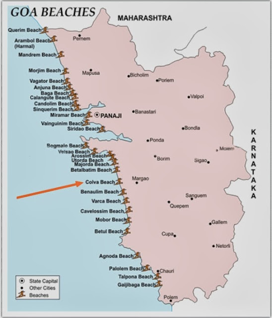 Colva Beach Goa India Location Map,Location Map of Colva Beach Goa India,Colva Beach Goa India accommodation destinations attractions hotels resorts map reviews photos pictures,colva beach to baga beach distance,colva beach hotels cottages resort tariff water sports shacks,places to visit near colva beach,information on hotels in colva beach