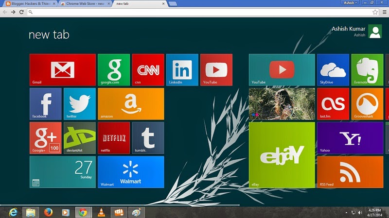 New Metro Style Live Tiles for Google Chrome