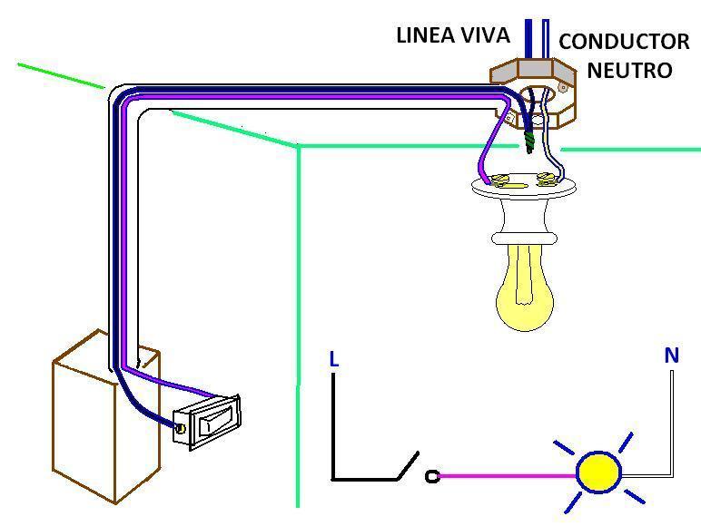 diagrama para conectar un apagador