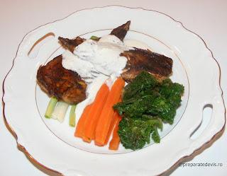 Peste cu legume si sos alb retete culinare,