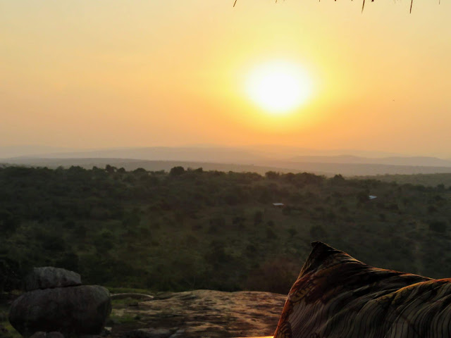 Sunrise from Rwakobo Rock lodge in Uganda