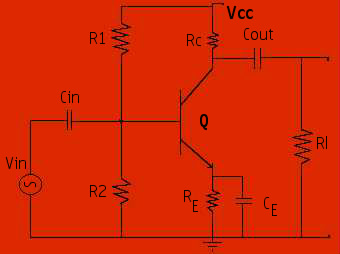 rc coupled amplifier circuit