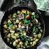 Potatoes, Kale and Mushrooms - Skillet