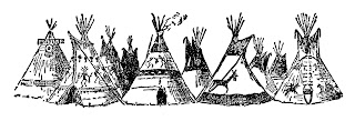 teepee native american clip art digital illustration indian image