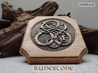 Runestone Wall Plaque in bronze & oak from Justbod