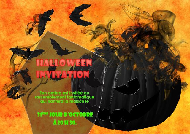 Carton d'invitation Halloween à imprimer