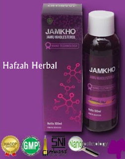 Jamkho obat herbal kolesterol murah di hafzah herbal