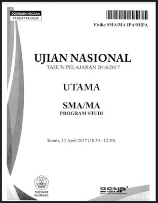 Kumpulan Soal UN SMA/MA 2016/2017 dan Pembahasannya