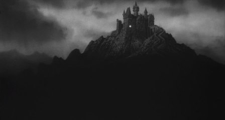 """Fronkenstein"" Castle, Young Frankenstein, 1974, matte painting"