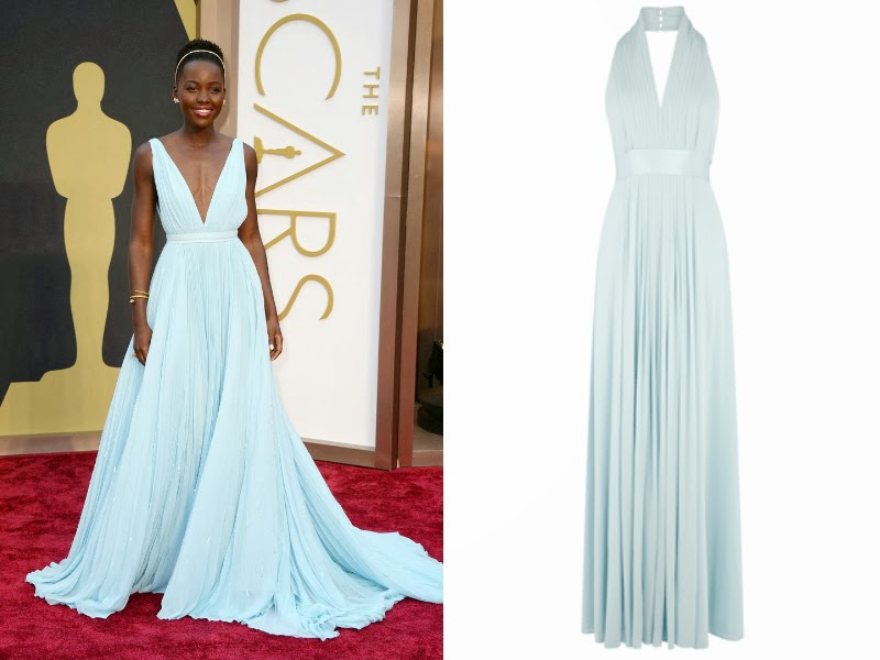 Lupita Nyong'o, Lupita Nyong'o Oscars 2014, Lupita Nyong'o Pastel Prada gown, Oscars 2014 red carpet, Oscars 2014 best dressed list, Steal red carpet style, celebrity look for less. Coast Goddess Maxi Dress