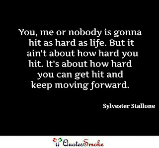 Sylvester Stallone Quote on overcoming hard time