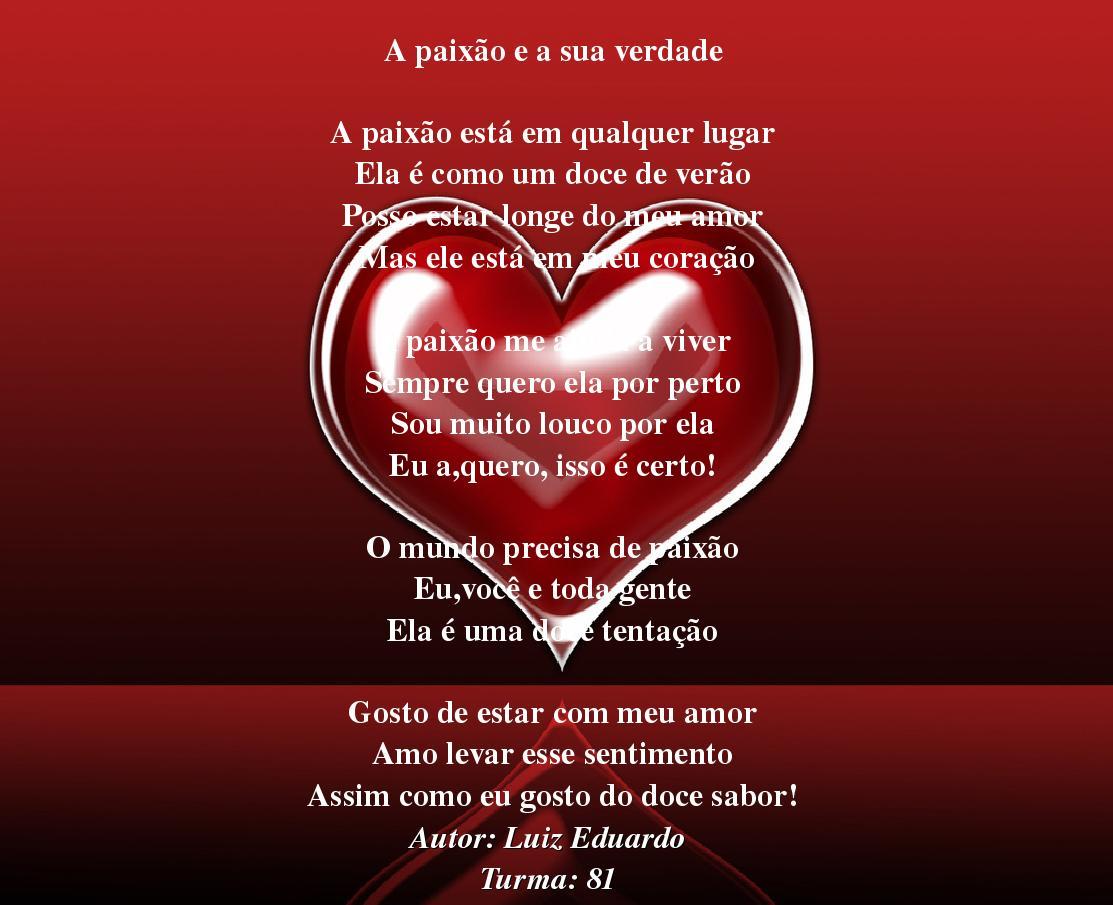 Formandos Jairo Callado 2012: Poema Dia Dos Namorados