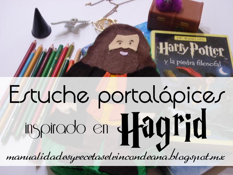 Portalápices de fieltro - Hagrid