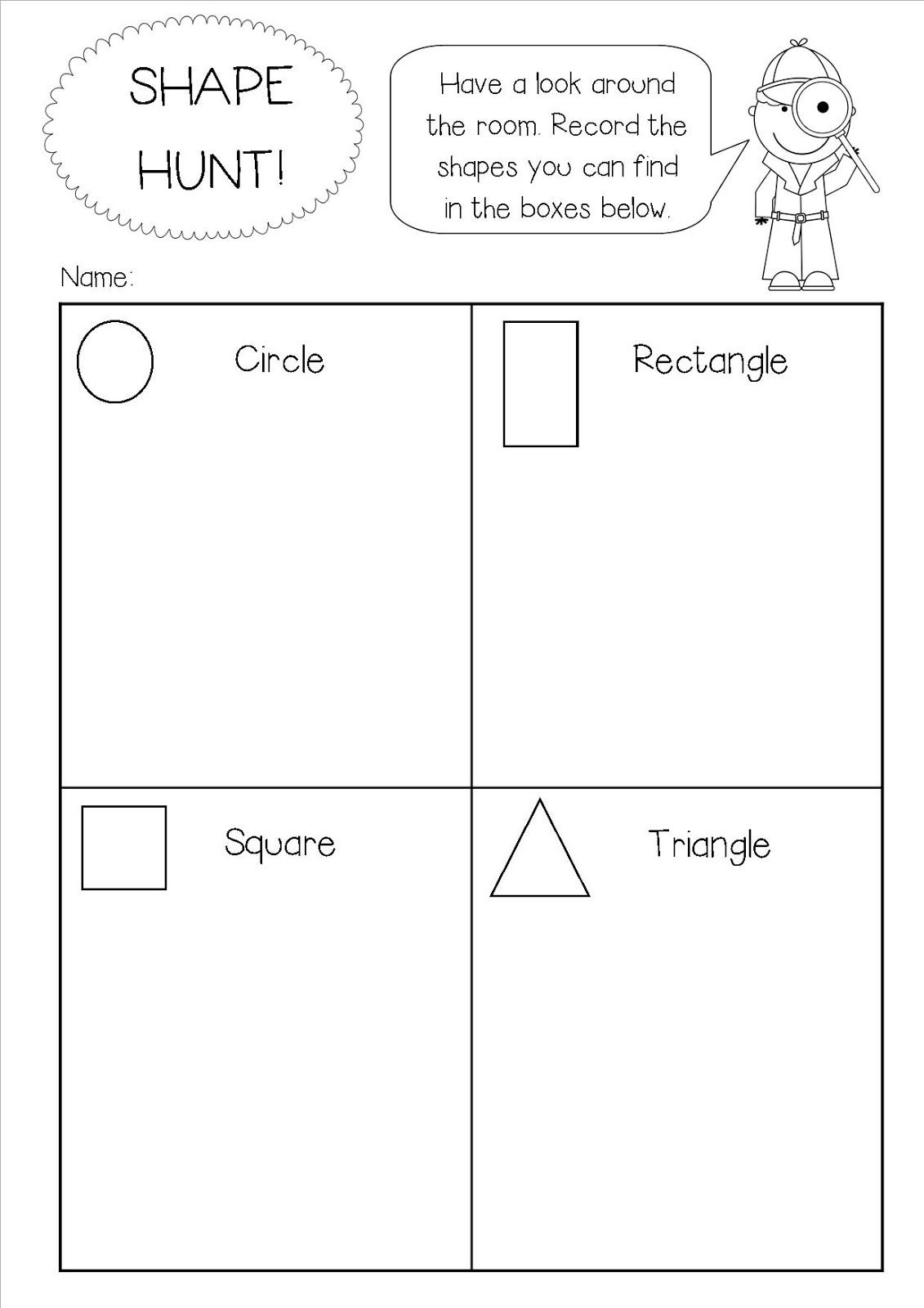 Early Years Fun Shape Hunt Freebie
