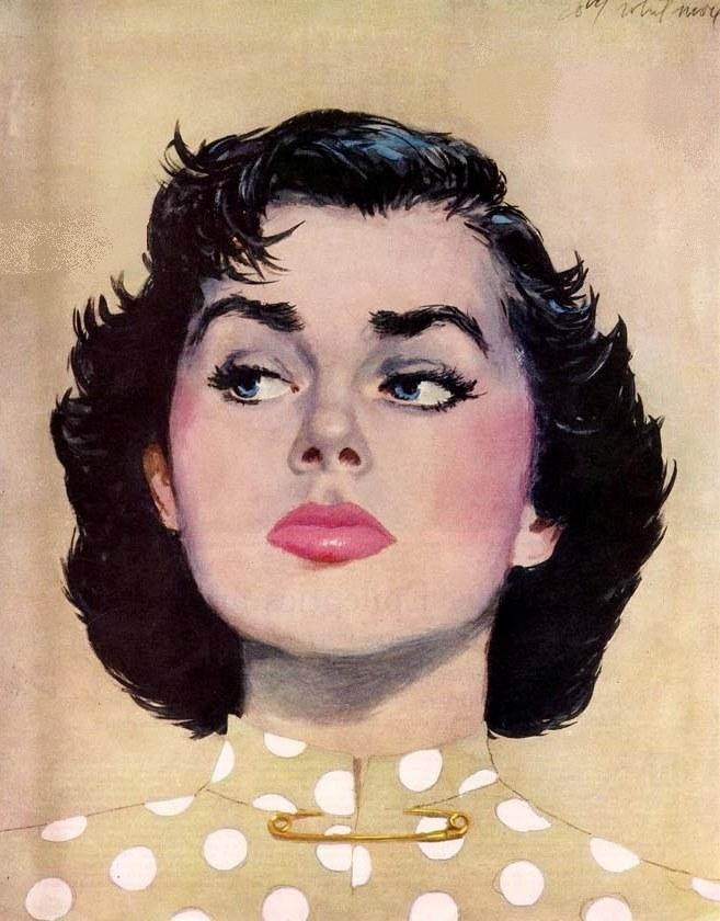 Maxwell Whitmore 1913-1988 | American Fashion painter and Magazine illustrator