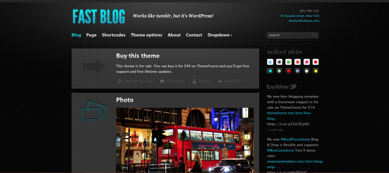 FastBlog Perfect Theme for Video site