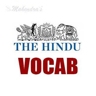 The Hindu Vocabulary For SBI PO & Clerk | 25-04-18