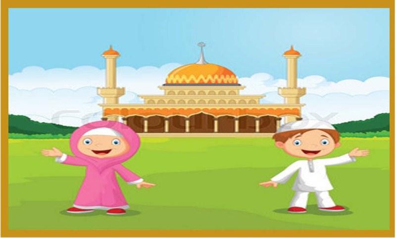 Masjid Kartun Anak Gambar Islami